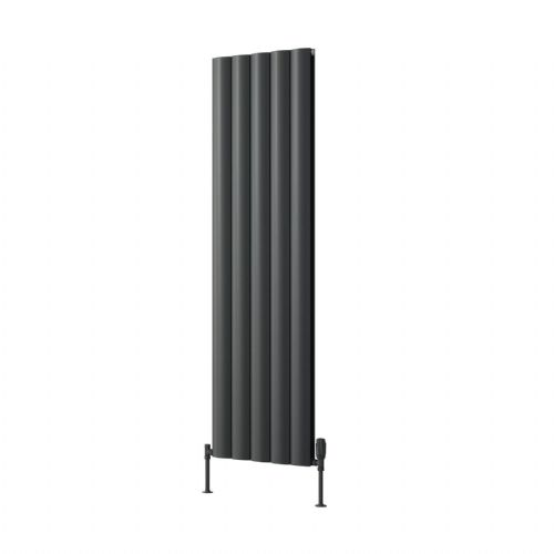 Reina Belva Single Horizontal Designer Radiator - 600mm High x 412mm Wide - Anthracite